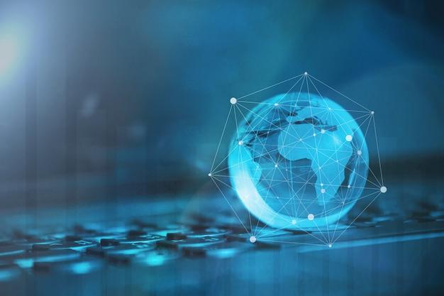 Globalna i międzynarodowa koncepcja biznesowa. świat podłączony. koncepcja sieci społecznej.