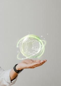 Globalna zrównoważenie środowiskowe w tle zielona technologia