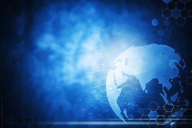 Globalne tło technologii sieci bez dostępu do sieci