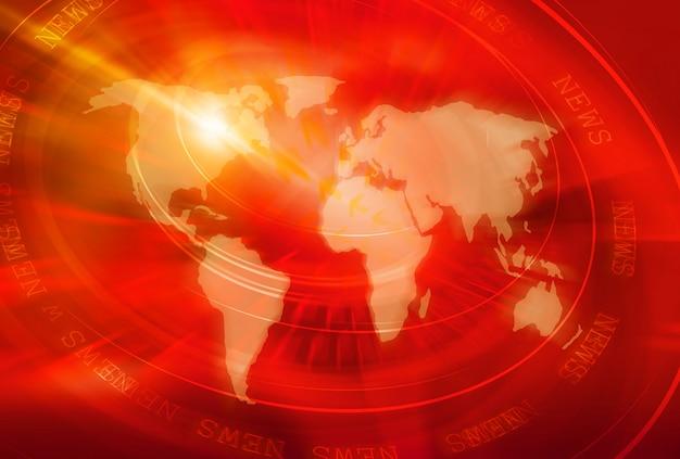 Globalne wiadomości i tło połączenia