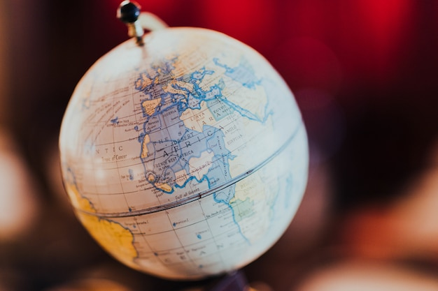 Globe with world map