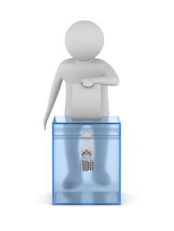 Głosowanie. izolowane renderowanie 3d