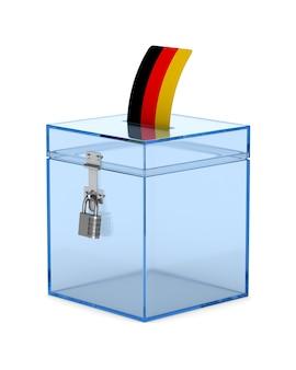 Głosowanie w niemczech na białym tle
