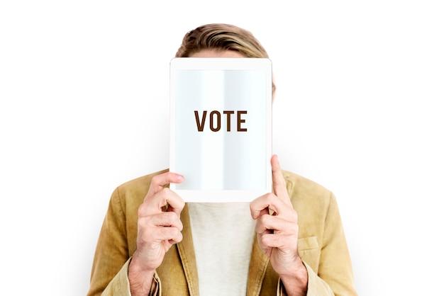 Głosuj wybory decyzje wybór polityczny rejestracja