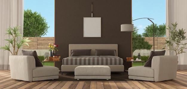 Główna sypialnia nowoczesnej willi
