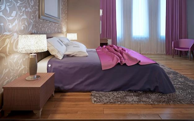Główna sypialnia w stylu awangardowym