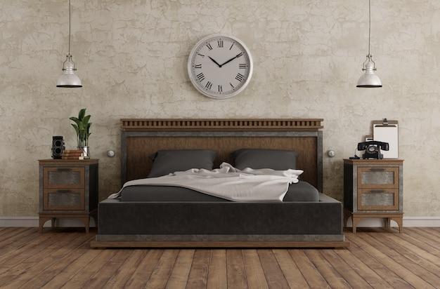 Główna sypialnia w stylu vintage