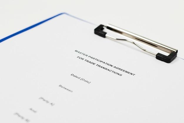Główna umowa uczestnictwa w transakcjach handlowych