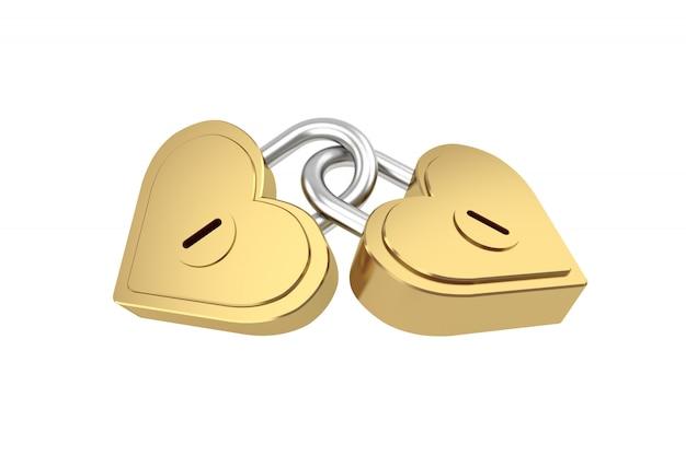 Główny klucz w kształcie serca, renderowania 3d.