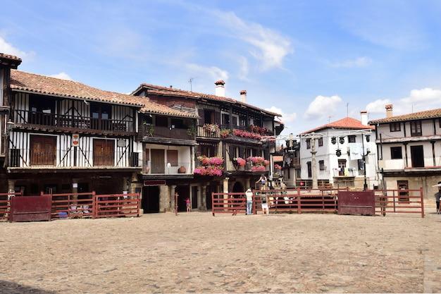 Główny plac i arena walki byków, la alberca, prowincja salamanca, kastylia-leon, hiszpania