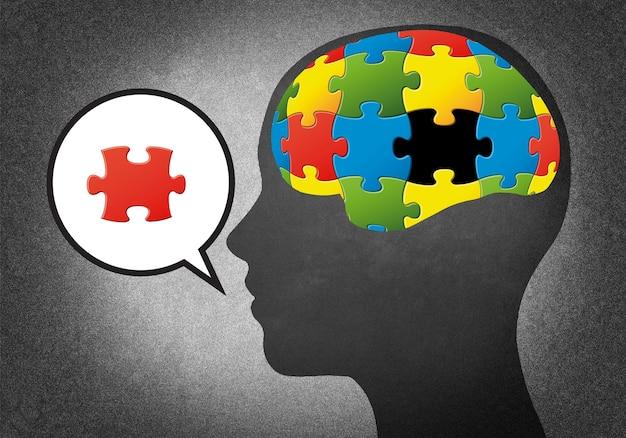 Głowy z puzzlami