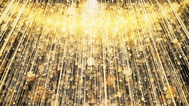 Gold glitter lights w scenie świętowania i nagradzania.