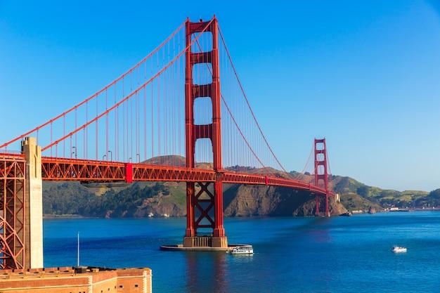 Golden gate bridge san francisco z presidio w kalifornii