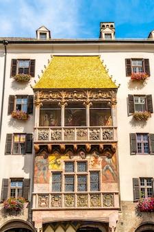 Goldenes dachl w innsbrucku w austrii.