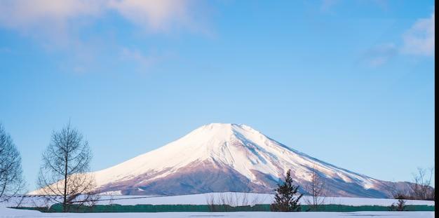 Góra fuji, fujiyama top piękny śnieg dla japonii piękny krajobraz najwyższy punkt