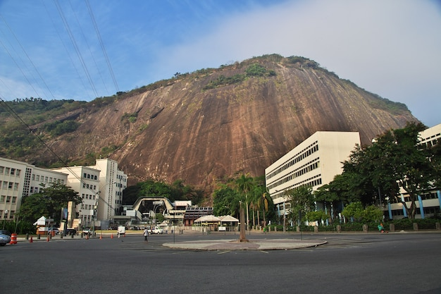 Góra głowy cukru w rio de janeiro, brazylia