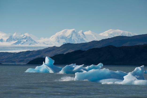 Góra lodowa unosi się nad jeziorem argentino