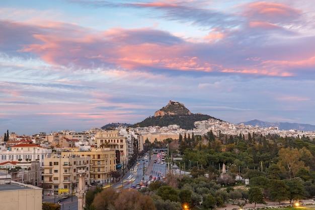 Góra lykabettus w atenach, grecja