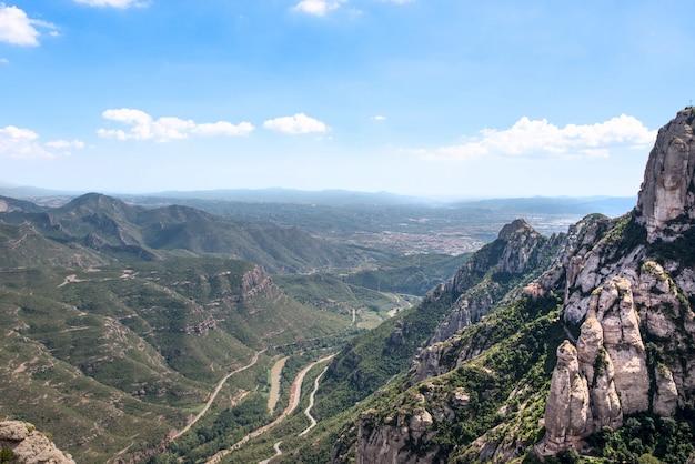 Góra montserrat katalonia, hiszpania