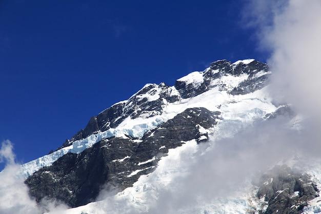Góra na południowej wyspie, nowa zelandia