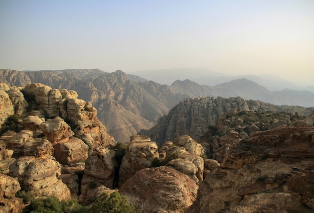 Góra w rezerwacie biosfery dana w jordanii