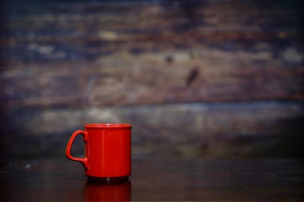 Gorąca kawa w filiżance.