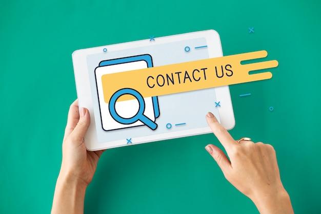Gorąca linia skontaktuj się z nami interfejs wyszukiwania call center