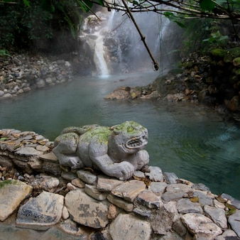 Gorące źródła w lesie, finca el cisne, copan ruinas, departament copan, honduras
