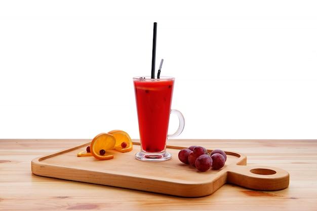 Gorący winogrono z miodem i pomarańczową herbatą