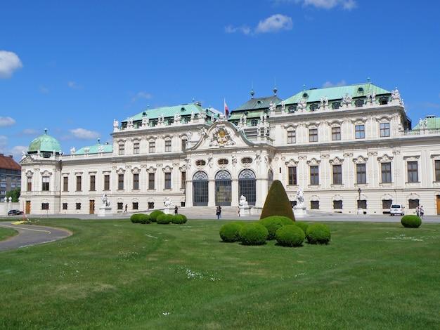 Górny belvedere w wiedniu w austrii