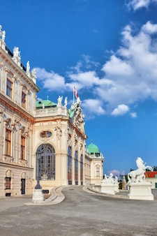 Górny belweder. główny zespół pałacowy belvedere.wiedeń. austria.