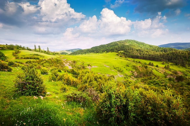 Górska dolina w pirenejach