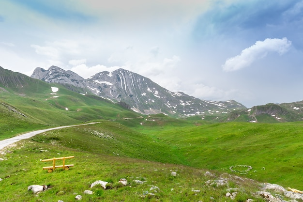 Górski i zielony krajobraz czarnogóry