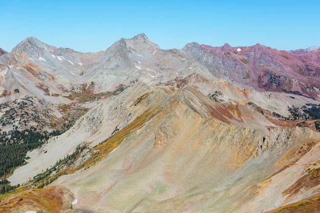 Górski krajobraz w colorado rocky mountains, colorado, stany zjednoczone.