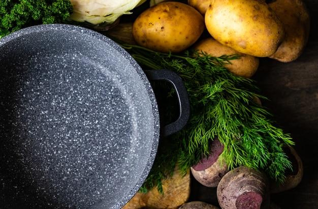 Gotowanie koncepcja ze składników