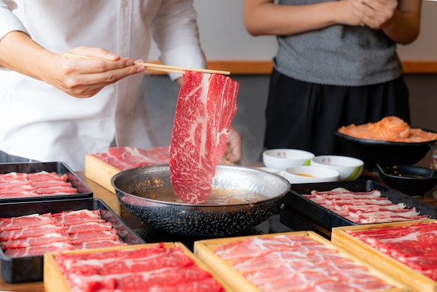 Gotowanie shabu shabu
