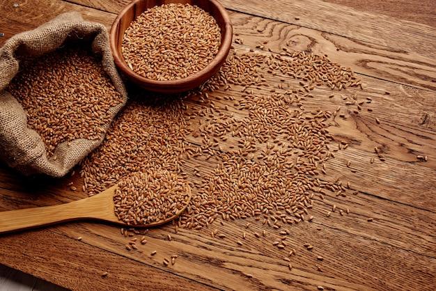 Gotowanie zbóż produkt ekologiczny żywność spożywczy zbliżenie