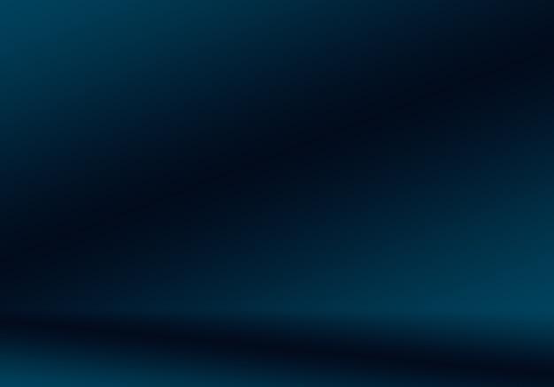 Gradient niebieski streszczenie tło. gładki granatowy z czarną winietą studio.