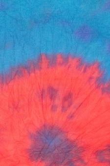 Gradientowa tkanina barwiona metodą tie-dye