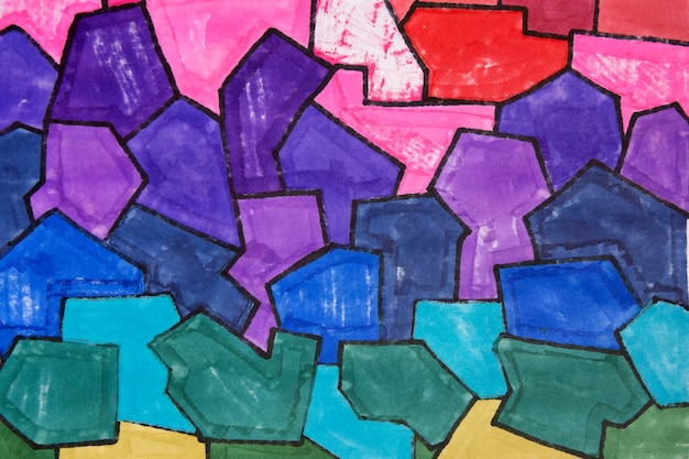 Gradientowe kolorowe tło streszczenie tekstura markera