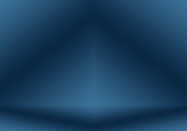 Gradientowe niebieskie tło abstrakcyjne gładkie ciemnoniebieskie z czarnym winietą studio