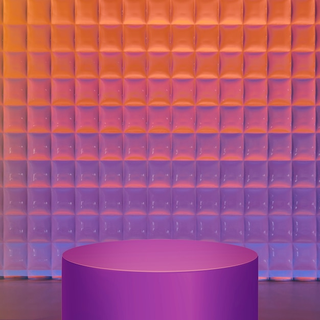 Gradientowe tło produktu, neonowy fioletowy stojak