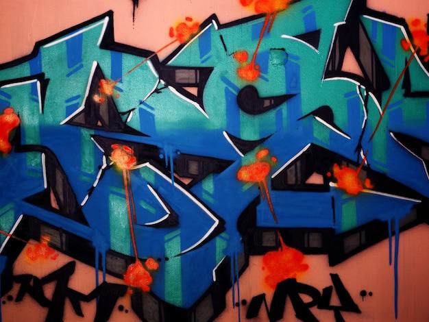 Graffiti ściany sztuki obraz olejny abstrakcyjne tło