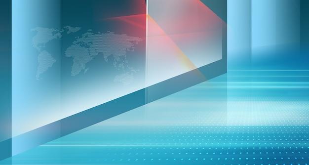 Graficzna abstrakcyjna technologia background-high-tech i nowoczesna przestrzeń 3d