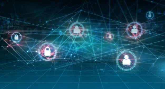 Graficzne abstrakcyjne tło internetu i sieci