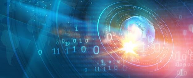 Graficzny nowoczesny cyfrowy świat tło