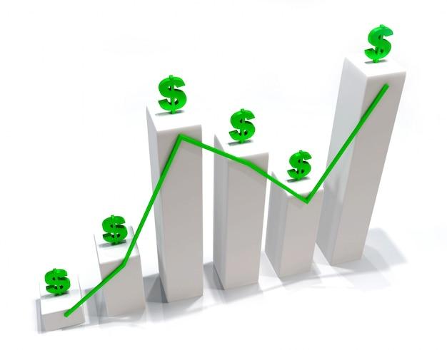 Grafika 3d pieniądze