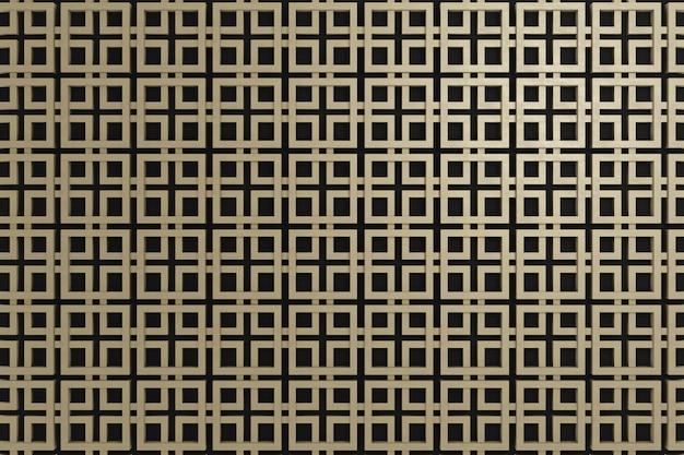 Grafika 3d ściana do dekoracji ścian lub tapety w tle.