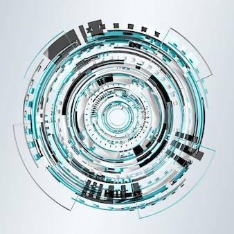 Grafika cyfrowa niebieski technologii renderowania 3d
