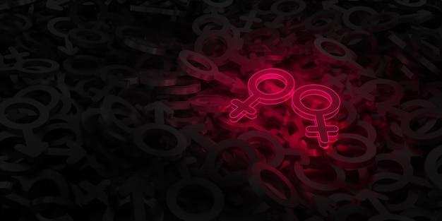 Grafika koncepcyjna na temat miłości do osób tej samej płci
